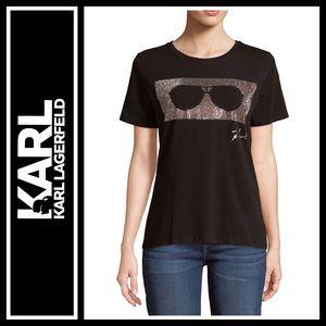 Karl Lagerfeld Sunglass Tee NWOT